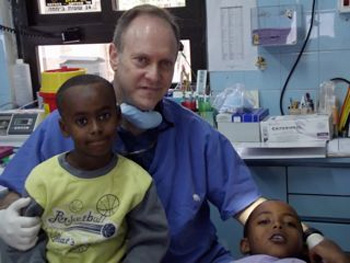 Dr. Scott Dubowsky Volunteers at the Children's Clinic
